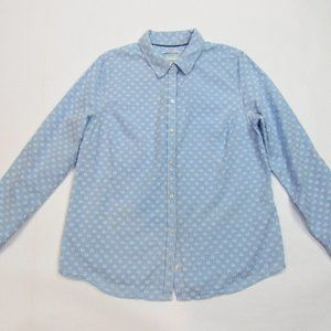 Charter Club Relaxed Fit Light Blue/White Blouse